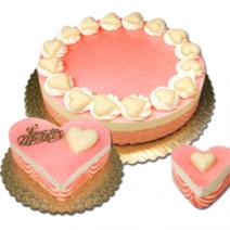 Raspberry & White Chocolate Mousse Cake
